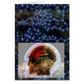 HUMANOID : Brain Brainy Science Biology Mind Greeting Card