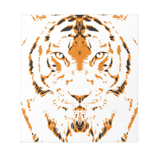 Humans are like tigers, wild notepad