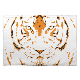 Humans are like tigers, wild placemat