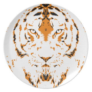 Humans are like tigers, wild plate