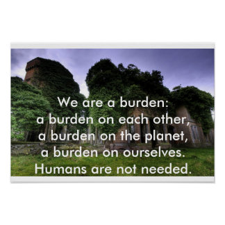 Humans are not needed poster