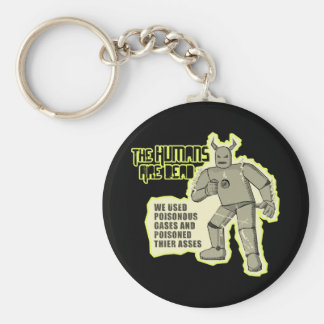Humans Dead Conchords Dark Basic Round Button Key Ring