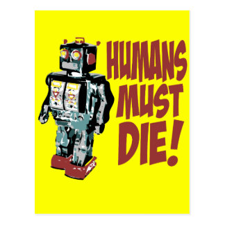 Humans Must Die Postcard