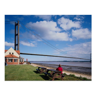 Humber Bridge, from north shore, U.K. Postcard