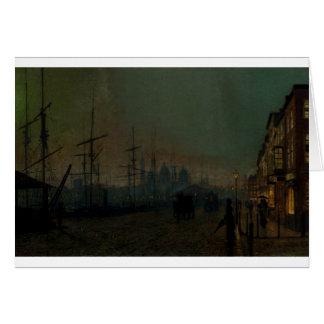 Humber dockside, Hull by John Atkinson Grimshaw Greeting Card