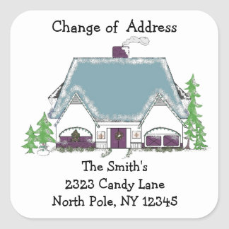Humble Abode Change of Address Square Sticker