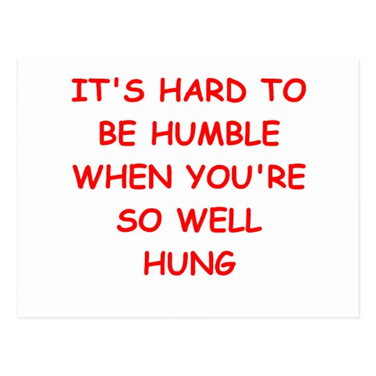 HUMBLE and hung Postcard