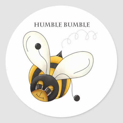 Humble Bumble Round Sticker