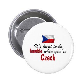 Humble Czech 6 Cm Round Badge