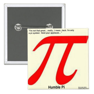 Humble Pi R Square Funny 15 Cm Square Badge