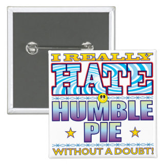 Humble Pie Hate Face 15 Cm Square Badge
