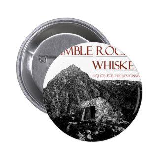 humble wiskey responsible 6 cm round badge