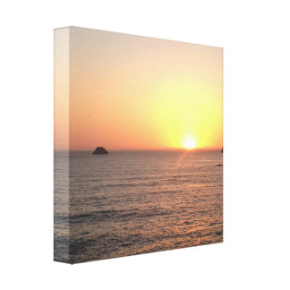 Humboldt County California West Coast Ocean Sunset Canvas Print