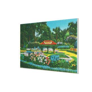 Humboldt Park Floral Emblem View Canvas Print