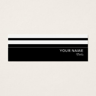 Humbug stripe business card template skinny
