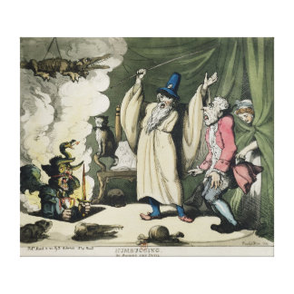 Humbugging or Raising the Devil, 1800 Canvas Print