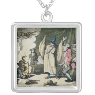 Humbugging or Raising the Devil, 1800 Silver Plated Necklace