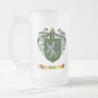 Hume Shield of Arms Frosted Glass Mug