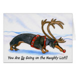 Humiliated Dachshund Christmas Card