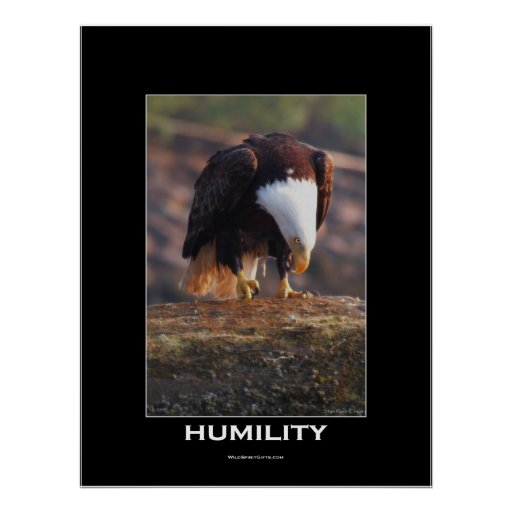 HUMILITY Bald Eagle Motivational Poster