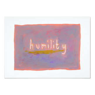 """Humility - fresh simple colorful painting art 5"""" x 7"""" invitation card"""