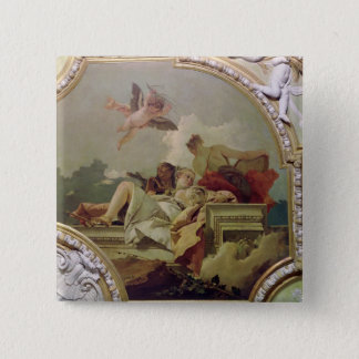 Humility, Indulgence and Truth 15 Cm Square Badge