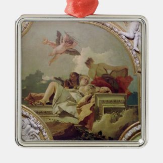 Humility, Indulgence and Truth Silver-Colored Square Decoration