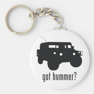 Hummer Basic Round Button Key Ring