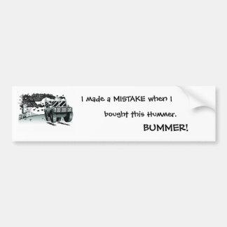 hummer bummer bumper stickers