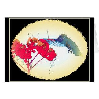 Hummer Flower Card