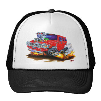 Hummer H2 Red Truck Hat