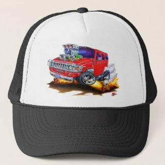 Hummer H2 Red Truck Trucker Hat
