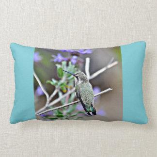 Hummer in Lavender Lumbar Throw Pillow