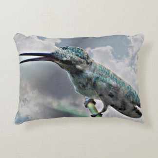 Hummer In The Clouds Polished Poly Accent Pillow