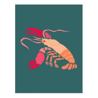 Hummer lobster postkarte