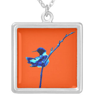 Humming Bird 1 Silver Plated Necklace