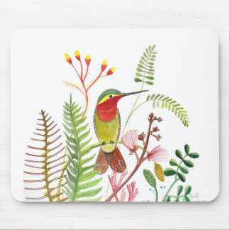 Humming bird in Frowers Mouse Pad