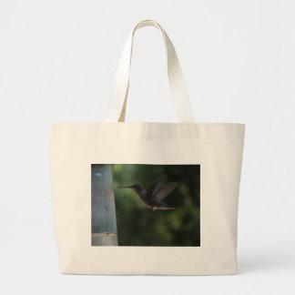 Humming Bird in Mid Air Jumbo Tote Bag