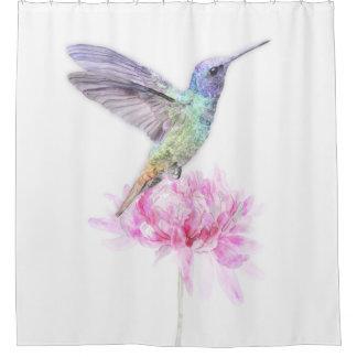 Humming Bird On Flower, Shower Curtain