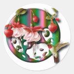Humming bird round sticker
