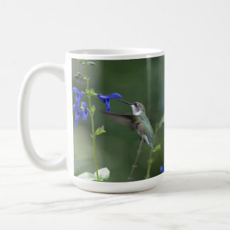 Humming Bird salvia sapphire blue mug