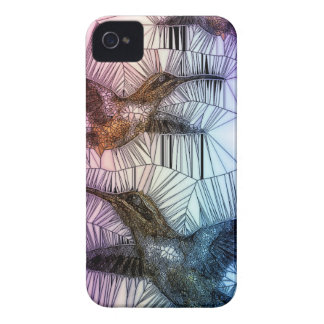 Humming Bird Stained Glass Design Case-Mate iPhone 4 Case