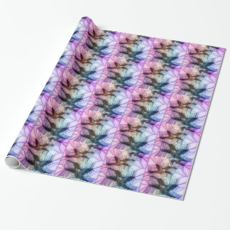 Humming Bird Stained Glass Design Wrapping Paper