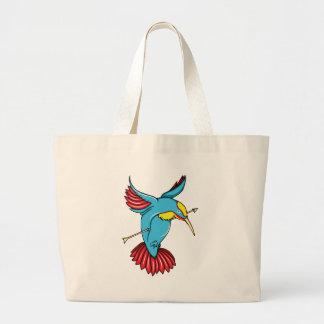 Humming Bird ~ Vintage Forties Tattoo Bird Art Bag