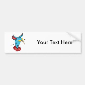 Humming Bird ~ Vintage Forties Tattoo Bird Art Bumper Stickers