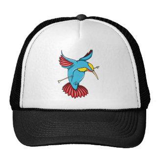 Humming Bird ~ Vintage Forties Tattoo Bird Art Mesh Hats