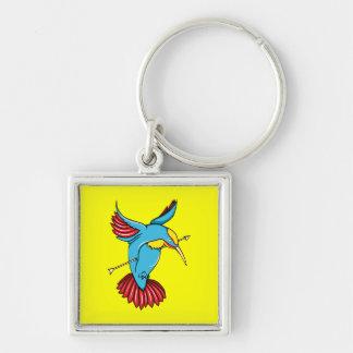 Humming Bird ~ Vintage Forties Tattoo Bird Art Keychain