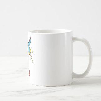Humming Bird ~ Vintage Forties Tattoo Bird Art Coffee Mug