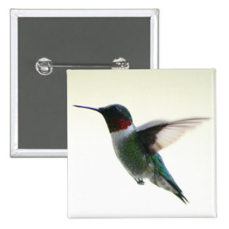 Hummingbird 15 Cm Square Badge