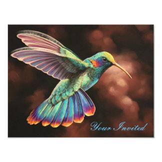 "Hummingbird 2 Invitation 4.25"" X 5.5"" Invitation Card"